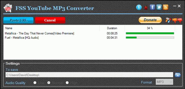 Click to view FSS YouTube MP3 Converter 1.2.0.4 screenshot