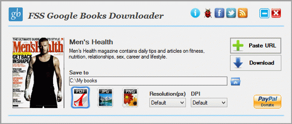Click to view FSS Google Books Downloader 1.8.0.5 screenshot