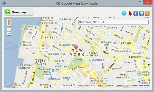 Free program for downloading Google Maps.